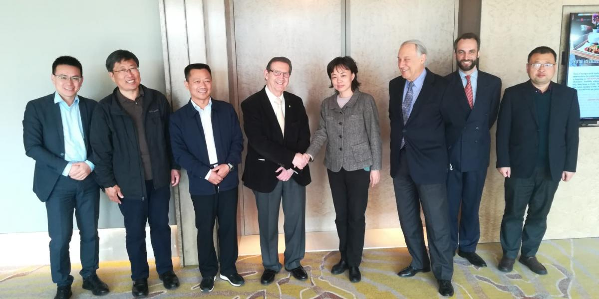 Meeting in Brussels with a delegation of Zhengzhou Municipal Government